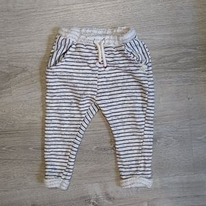 Zara Baby Girl striped pocket sweat pants drawstri